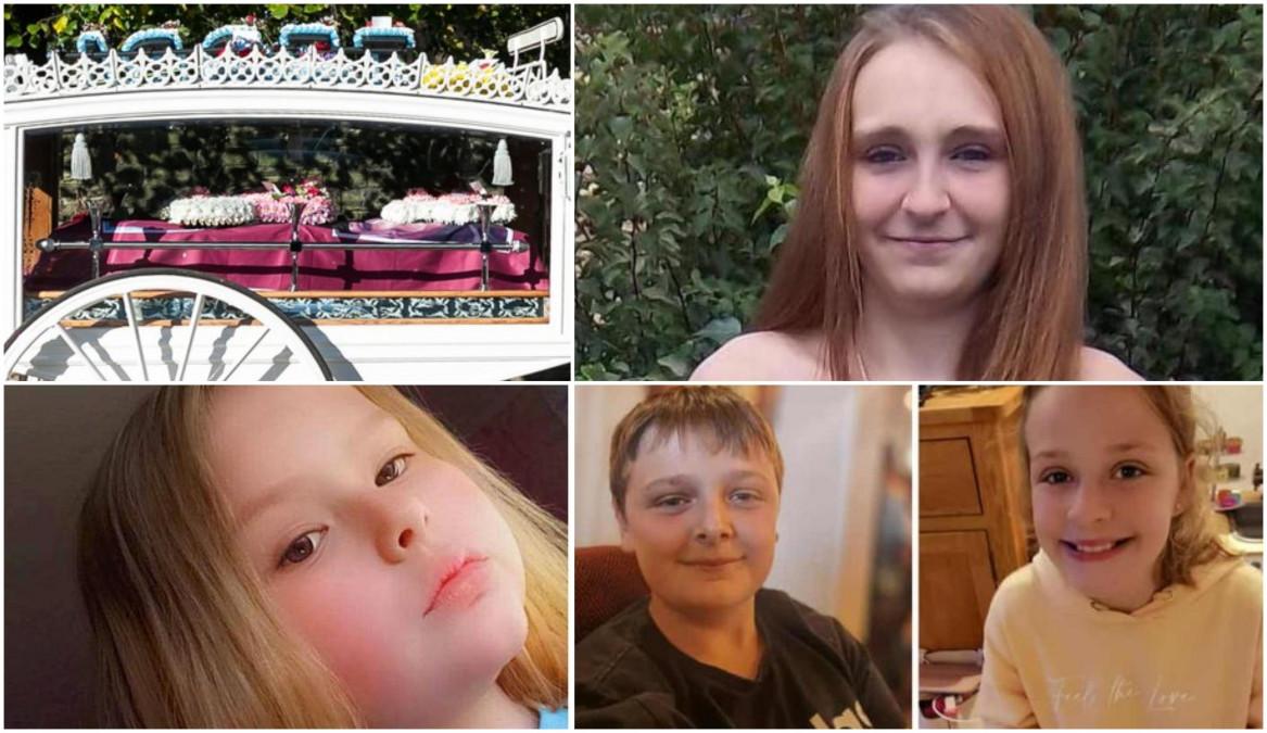 Femeia şi cei trei copii, ucişi după o petrecere în pijamale. Trupurile neînsufleţite, purtate într-o caleaşcă albă